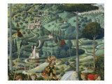 Procession of the Magi: Wall with Emperor John VII Paleologus, detail (Landscape) Giclee Print by Benozzo Gozzoli