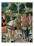 Procession of the Magi: Wall with Giuliano, detail (The Patriarch of Constantinople) Giclée-tryk af Benozzo Gozzoli