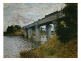 The Railroad Bridge at Argenteuil Giclée-tryk af Claude Monet
