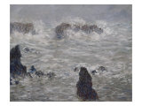 Storm off Belle-Ile Reproduction procédé giclée par Claude Monet