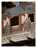 Screen Called 'Coromandel' with Scenes from the Life in the Forbidden Town of Peking: The Entrance  Giclee Print
