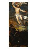 Averoldi Polyptych - detail (Christ Risen) Giclée-tryk af Titian (Tiziano Vecelli)