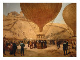 The Minister Gambetta on the Hot-Air Balloon October 7, 1870 Giclee Print by Jules Didier