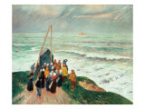 Waiting for the Fishermen in Brittany Giclee Print by Henry Moret