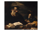 Homer Dictating His Poems Gicle-tryk af Pier Francesco Mola