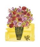 バスケットの花 1958年 (Basket of Flowers) ジクレープリント : アンディ・ウォーホル
