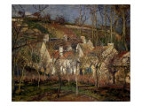 Les Toits Rouges, Coin de Village, Effet d'Hiver (The Red Roofs, View of a Village in Winter), 1877 Giclee Print by Camille Pissarro
