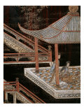 Screen Called 'Coromandel' with Scenes from the Life in the Forbidden Town of Peking: Women Lámina giclée
