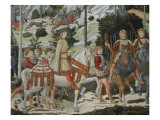 Procession of the Magi: Wall with Lorenzo, detail (Lorenzo with Archers) Giclee Print by Benozzo Gozzoli