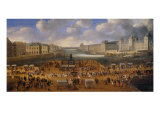 View of Pont Neuf with the Carriage Race of King Louis XIV, 1665 Giclee Print