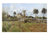 Landscape at Pontoise Giclee Print by Camille Pissarro