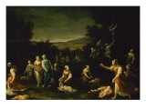 Nymphs Disarming Cupids Giclee Print by Giuseppe Maria Crespi