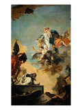 The Virgin Giving the Scapular to Saint Simon Stock Giclee Print by Giambattista Tiepolo