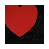 Heart, c.1979 (Red on Black) Lámina giclée por Andy Warhol