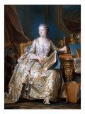 Portrait of Madame de Pompadour Giclee Print by Maurice Quentin de La Tour