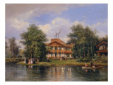 Palazzino of the Porte Jaune at the Bois de Vincennes, 1862 Giclee Print by Pierre Justin Ouvrie