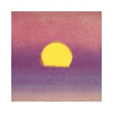 Sunset, c.1972 (pink, purple, yellow) Giclée-tryk af Andy Warhol