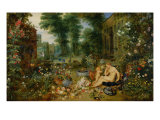 The Five Senses: Smell Giclee Print by Jan Brueghel the Elder