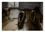 Floor Scrapers Giclee Print by Gustave Caillebotte