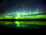 Aurora Near the Village of Clyde, Alberta, Canada Photographie