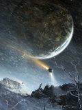 Asteriant Prime Is a Highly Developed Planet with Giant City-Scapes Photographic Print