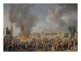 Festival on the Revolution square, August 10, 1793 Giclee Print by Pierre-Antoine Demachy
