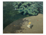 Child Playing with a Ball, 1899 Giclee Print by Felix Vallotton
