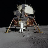 Apollo 11 Astronaut in Front of the Lunar Module Photographic Print