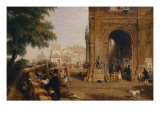 View of the Quai Conti, 1846 Giclee Print by William Parrott