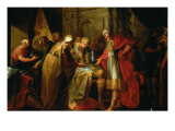 King Hezekiah Flaunting His Wealth Giclee Print by Vicente Lopez y Portana