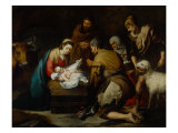 Adoration of the Shepherds Giclee Print by Bartolome Esteban Murillo