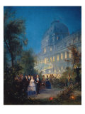 Festival at Night at the Tuileries June 10, 1867 Giclee Print by Pierre Tetar Van Elven