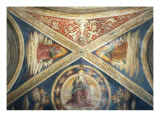 Ceiling of the Cappella Ponziani with Christ Redeemer Giclee Print by Bernardino di Betto Pinturicchio