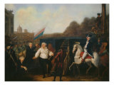 Louis XVI taken to the Place of Execution January 21, 1793 Giclee Print by Charles Benazech