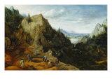 Landscape with Iron Mines Giclée-Druck von Lucas van Valckenborch