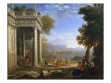 Landscape with Samuel and David Giclee Print by Claude Lorrain