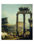 Roman Caprice with the Colosseum Giclee Print by Bernardo Bellotto