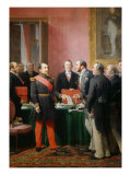Napoleon III gives a letter to the baron Haussmann June 16, 1859 Giclee Print by Adolphe Yvon