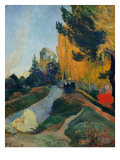 Les Alyscamps Giclee Print by Paul Gauguin