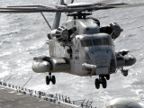 CH-53E Super Stallion Helicopter Takes Off from USS Makin Island Photographic Print