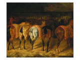 Five Horses Viewed from the Back Reproduction procédé giclée par Theodore Gericault