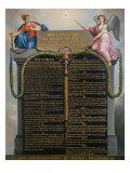 The Declaration of the Rights of Man and Citizen, August 1789 Impression giclée par Jean Jacques Francois Le Barbier