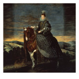 Equestrian Portrait of Margarita d'Austria Giclee Print by Diego Velázquez