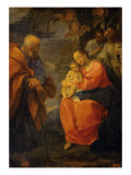 Holy Family under the Palm Tree Giclee Print by Lodovico Carracci