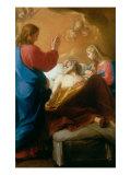 Death of St. Joseph Giclée-tryk af Pompeo Batoni