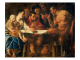 Satyr in Peasant's House Giclee Print by Jacob Jordaens
