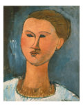 Head of a Woman, 1915 Giclee Print by Amedeo Modigliani