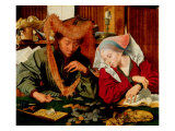 A Moneychanger and His Wife Giclee Print by Marinus Van Reymerswaele