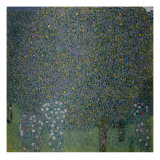 Roses under the Trees, c. 1905 Giclee Print by Gustav Klimt