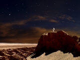 Artist's Depiction of a Lone Astronaut on Another Planet Photographic Print